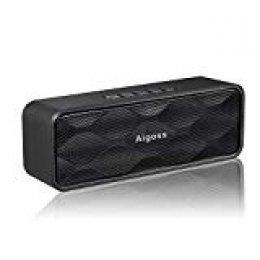 Aigoss Altavoz Bluetooth Inalámbrico Portátil Para Exteriores con Audio HD y Graves Mejorados Altavoz de Doble Controlador Integrado, Altavoces V4.1, Llamadas Manos Libres, FM y Tarjetas TF, Negro