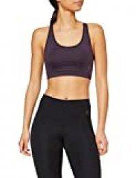Marca Amazon - AURIQUE Sujetador Deportivo Bajo Impacto Tirantes Yoga Mujer, Morado (Nightshade), XS, Label:XS