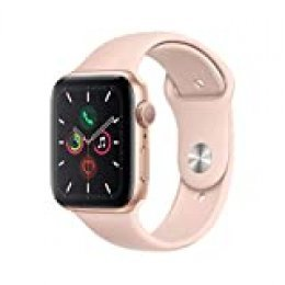Apple Watch Series 5 (GPS, 44 mm) Aluminio en Oro - Correa Deportiva Rosa Arena