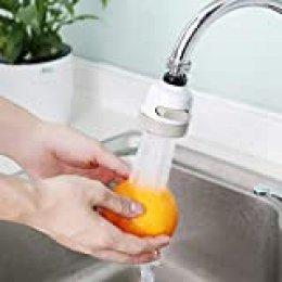 Cabezal de pulverización Giratorio de Grifo Giratorio de 360 ° Ajuste de 3 Modos Boquilla de Filtro de Salpicaduras móvil para Usar en la Cocina doméstica
