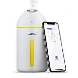 meross Humidificador Inteligente, 320ML, Purificador de Aire con LED, App Control, Ideal para el Hogar, Oficina, SPA, Bebé.