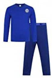 Pijama oficial del Chelsea Football Club Azul largo CFC para hombre Azul azul XL