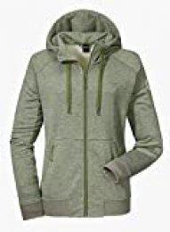 Schöffel Akureyri L - Chaqueta de forro polar con capucha para mujer, primavera/verano, color loden green, tamaño 44, XL