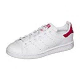 adidas Stan Smith J, Zapatillas Unisex niños, Blanco (Footwear White/Footwear White/Bold Pink 0), 36 EU