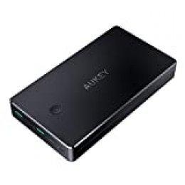 AUKEY Bateria Externa 20000mAh Power Bank con Entrada Lightning y Micro USB, 2 Salidas USB 3,4A para iPhone X/ 8/7/ 6s, Samsung S8+/ S8, Tablets y más