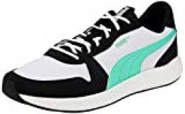 PUMA Nrgy Neko Retro, Zapatillas de Running para Hombre, Negro Black White/Green Glimmer 12, 39 EU