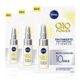 NIVEA Q10 Power Tratamiento Antiarrugas + Firmeza 10 días en pack de 3 (3 x 6,5 ml), ampollas antiedad con coenzima Q10 y creatina para el cuidado facial