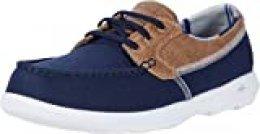 Skechers GO Walk Lite, Zapatillas para Mujer, Azul Marino Ribete Textil Nvy, 39 EU