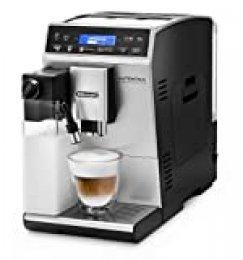 De'Longhi Autentica Cappuccino - Cafetera Superautomática, Depósito para Leche, Espumador de Leche, Recetas Automáticas, Pantalla LCD y Panel Táctil, 1450 W, ETAM 29.660.SB, Plata
