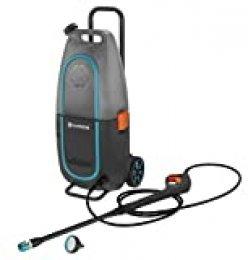 GARDENA AquaClean 9341-55 Limpiadora de alta presión Li-40/60 sin batería, limpiador de superficies para exterior, depósito extraíble de 14litros
