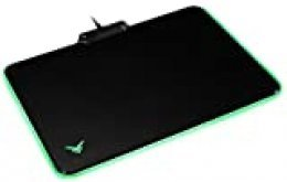 AmazonBasics - Alfombrilla rígida de ratón para videojuegos con efectos de iluminación LED