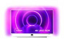 Televisor Philips Ambilight 50PUS8505/12, Smart TV de 50 Pulgadas (4K UHD, P5 Picture Engine, Dolby Vision, Dolby Atmos, Control de Voz, Android TV), Color Plata Claro (Modelo de 2020/2021)