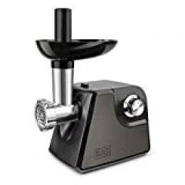 Black+Decker BXMM1000E Picadora de Carne, 1000 W, Acero Inoxidable, Gris