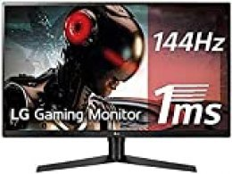 "LG 32GK650F-B - Monitor Gaming QHD de 80 cm (31,5"") con Panel VA (2560 x 1440 píxeles, 16:9, 1 ms con MBR, 144Hz, 350 cd/m², 3000:1, NTSC >72%) Color Negro y Rojo"