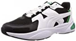 PUMA Ascend, Zapatillas Unisex-Adulto, Blanco White Black/Amazon Green 03, 38.5 EU