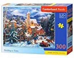 Castorland Sledding in Town 300 pcs Puzzle - Rompecabezas (Puzzle Rompecabezas, Invierno, Niños y Adultos, Niño/niña, 8 año(s), 400 mm)
