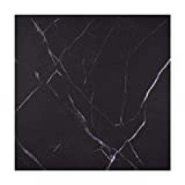 Irich - 5 pegatinas de mármol para azulejos, impermeables, autoadhesivas, para decoración de azulejos, dormitorio, cocina, sala de estar, color negro, pvc, negro 1, 1 pieza