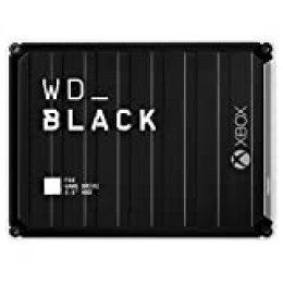 WD BlackP10 - Game Drive de 5 TB para Acceder en Cualquier Momento a tu Biblioteca de Juegos de Xbox