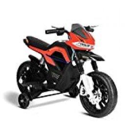 Playkin FASTER - Moto electrica niños bateria 6V recargable con luces y musica +3 años juguetes infantiles triciclo correpasillos