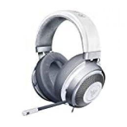 Razer Kraken Auriculares Gaming con cable para juegos multiplataforma para PC, PS4, Xbox One & Switch, Diafragma 50 mm, Cable de 3.5mm con controles de línea, Mercury / Blanco