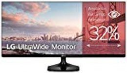 "LG 25UM58-P - Monitor Profesional UltraWide FHD de 63,5 cm (25"") con Panel IPS (2560 x 1080 píxeles, 21:9, 250 cd/m², sRGB >99%, 1000:1, 5 ms, 75 Hz) Color Negro"