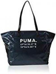 PUMA Prime Time Large Shopper X-mas Bandolera, Mujeres, Black-Gunmetal, OSFA