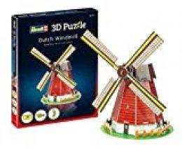 Revell- Molino de Viento holandés 3D Puzzle, Multicolor (00110)