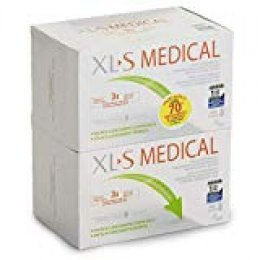 PACK XLS Medical Captagrasas - 2x180 comp - Pierde hasta 3 veces más peso que sólo haciendo dieta. Capta hasta el 28% de la ingesta de grasa.Reduce el apetito y las ansias de comer. Incluye vit.A,D3,E
