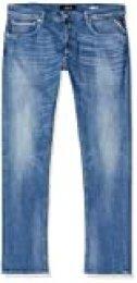REPLAY Grover Vaqueros Straight, Azul (Medium Blue 9), W28/L32 (Talla del Fabricante: 28) para Hombre