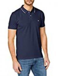 Wrangler Pique Camisa Polo, Azul (Navy 114), X-Large para Hombre