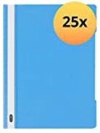 ELBA 100800009 - Carpetas archivadoras (A4, PVC, 25 unidades), color azul claro