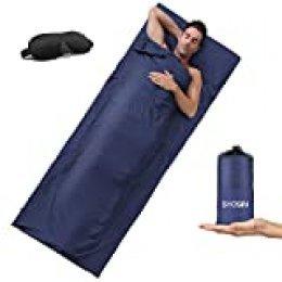 Saco De Dormir,Forro para Saco De Dormir,sábanas Interiores Ultraligeros,sábana De Camping,cómodo para Viajes Hotel Monta?a Hostales Picnic Aviones
