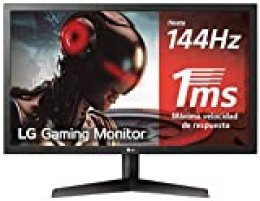 "LG 24GL600F-B - Monitor Gaming QHD de 59,8 cm (24"") con panel TN (1920 x 1080 píxeles, 16:9, 1 ms, 144Hz, FreeSync LFC, 300 cd/m², 1000:1, NTSC >72%, DP x1, HDMI x2, auriculares) color negro"