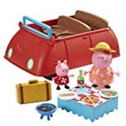 Peppa Pig- Gran Coche Deluxe Rojo, Color (Bandai CO06921)