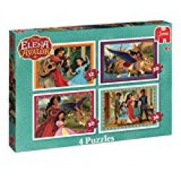 Jumbo Disney Elena of Avalor 4 Puzzles Puzzle - Rompecabezas (Puzzle Rompecabezas, Dibujos, Preescolar, Disney Elena of Avalon, Chica, 4 año(s))