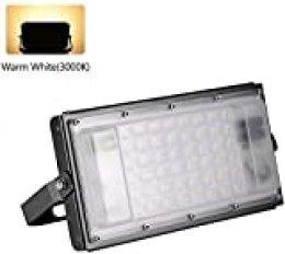 Ankishi Focos LED Exterior 50W, Foco Módulo Super Brillante Impermeable IP65 3200K (Blanco Cálido),Floodlight Spotlights Reflector Lámpara para Exterior, Interior, Jardín, Patio.
