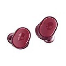 Skullcandy Sesh True Auriculares inalámbricos con Funda de Carga, Tecnología Bluetooth y Micrófono, Batería de hasta 10 Horas, Resistencia al Sudor, al Agua y al Polvo IP55, Rojo Moab