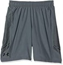 Under Armour Woven Graphic Short Pantalón Corto, Hombre, Gris (Pitch Gray/Black 013), S