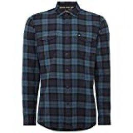 O'NEILL LM Violator Camisa Franela, Hombre, Multicolor (Black AOP), M