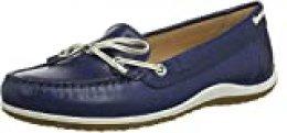 Geox D Vega Moc B, Mocasines para Mujer, Azul (Blue/Skin C4ea5), 36,5 EU