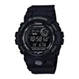 Casio G-SHOCK Reloj Digital, Contador de pasos, Sensor de movimiento, Aplicación de deporte gratuita para descargar, 20 BAR, Negro, para Hombre, GBD-800-1BER