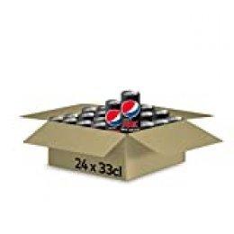 Pepsi MAX, Refresco de Cola Zero Azúcar, 24 Unidades, 330 ml (8410494300166)
