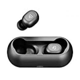 Dudios Air TWS Cascos Bluetooth Inalámbricos Manos Libres Auriculares Bluetooth 5.0 Deportivos Resistente al Agua con Caja de Carga magnética Sonido Estéreo con Micrófono para iOS y Android(Negro)