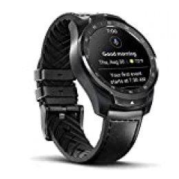 Ticwatch Smartwatch Pro 1GB RAM, Pantalla en Capas para Larga duración de la batería, NFC, 24H frecuencia cardíaca, GPS, Seguimiento del sueño, Música, IP68 Compatible con Android iOS