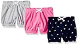 Amazon Essentials - Pack de 3 pantalones bombacho para niña