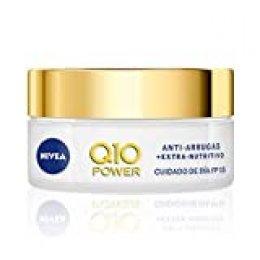NIVEA Q10 Power Antiarrugas Crema de Día Extra-Nutritiva, crema facial antiarrugas con coenzima Q10 y aceite de argán, crema antiedad con FP15 para piel seca - 1 x 50 ml