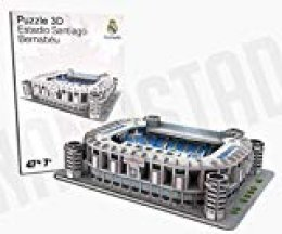 REAL MADRID- Nanostad, Puzzle 3D Estadio Santiago Bernabéu Mini (34009), Multicolor (KICK OFF GAMES 1)