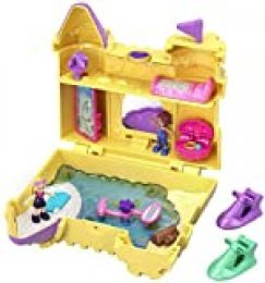 Polly Pocket Cofre Castillo de Arena, muñeca con accesorios (Mattel GCJ87) , color/modelo surtido