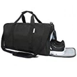 Oflamn Bolsa de Viaje Bolsa Fin de Semana - Bolsa de Deporte con Compartimento Zapatos para Mujeres y Hombres - Sports Gym Bag